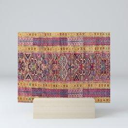 Kolyai Long Antique Persian Kurdish Rug Print Mini Art Print