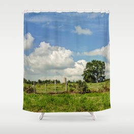 Country Hill Shower Curtain