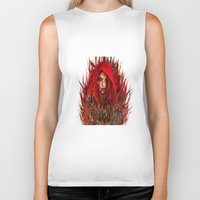 red riding hood Biker Tanks featuring  Red Riding Hood by ururuty