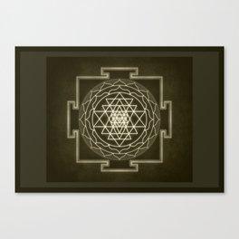 Sri Yantra XI monochrome Canvas Print