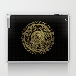 Golden  Star of Lakshmi - Ashthalakshmi  Sri Laptop & iPad Skin