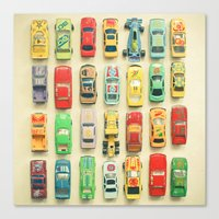 racing Canvas Prints featuring Car Park by Cassia Beck