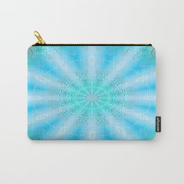 Let the Sun Shine Mandala (tropical blues) Carry-All Pouch