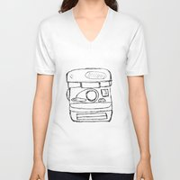 polaroid V-neck T-shirts featuring polaroid by Whatcha-McCall-it