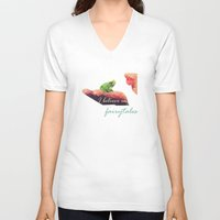 fairy tale V-neck T-shirts featuring Fairy tale by Rhena Wanders