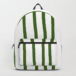 Simply Drawn Vertical Stripes in Jungle Green Backpack