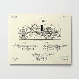 Automobile Fire Apparatus-1916 Metal Print