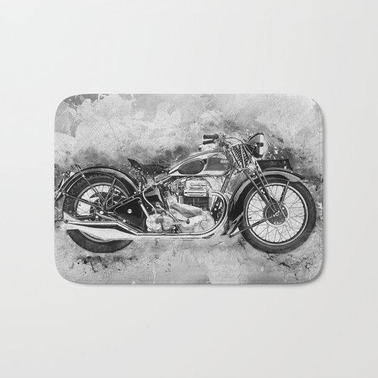 Vintage Motorcycle No2 Bath Mat