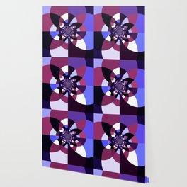 Purple Magenta Periwinkle Kaleidoscope Mangala Wallpaper