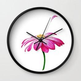 crimson flower petal and flown away . illustration Wall Clock