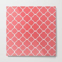 Quatrefoil coral Metal Print