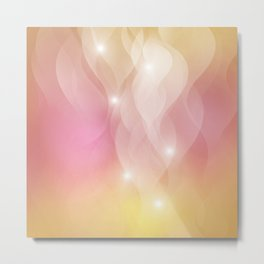 The Sound of Light and Color - pink & honey Metal Print