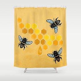 """Honeybees"" Shower Curtain"