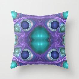 """Lavender Mint"" Fractal Flame Art Throw Pillow"