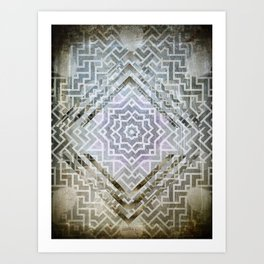 Pattern Kaleidoscope 1 Art Print