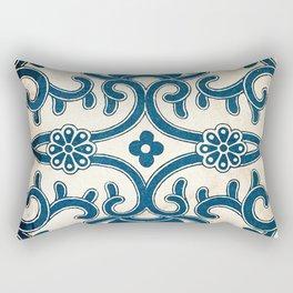 Blue Oriental Vintage Tile 02 Rectangular Pillow