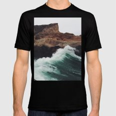 Montaña Wave Black LARGE Mens Fitted Tee