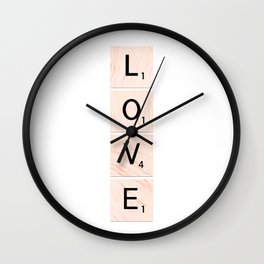 Scrabble LOVE Vertical Wall Clock