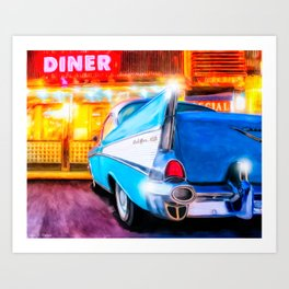1957 Chevy Coupe - Classic American Diner Art Print