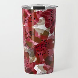 Red autumn flowers Travel Mug