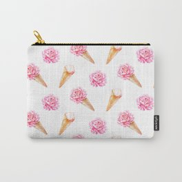 Floral Cones Carry-All Pouch