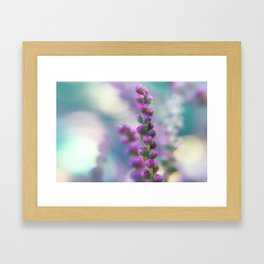 Purple and Teal Framed Art Print