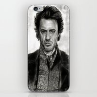 sherlock holmes iPhone & iPod Skins featuring Sherlock Holmes by ChrisPastel