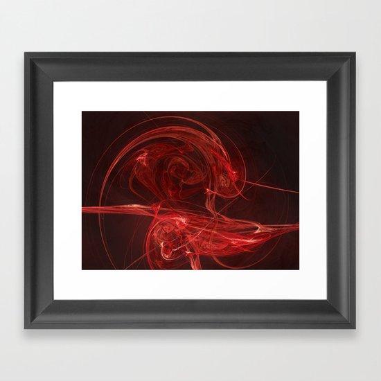 Roses R Red Framed Art Print