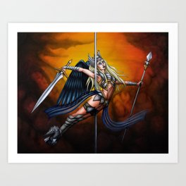Pole Creatures: Valkyrie Art Print