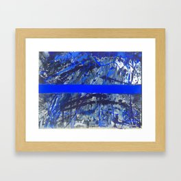 Blue Line of Sorrow Framed Art Print