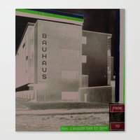 bauhaus Canvas Prints featuring BAUHAUS by Roderick Smith