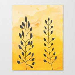 Floral Line Art Canvas Print