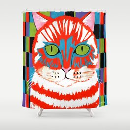 Bad Cattitude - Cats Shower Curtain