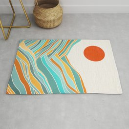Abstract Sunset Landscape II Rug