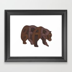 Bears Typography Framed Art Print