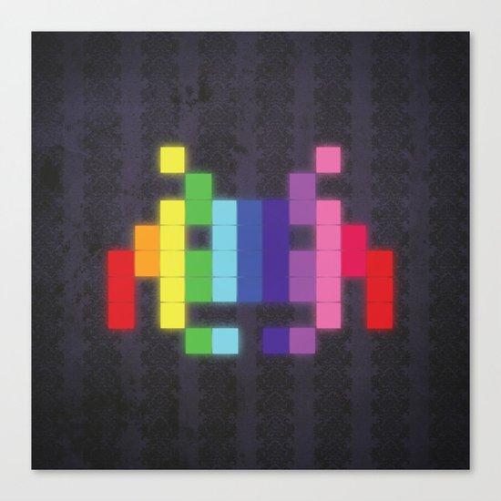 Face The Rainbow Canvas Print