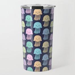 Cute colorful jellyfishes Travel Mug