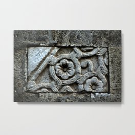 Medieval Carved Stone Wall Metal Print