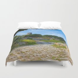 Once Upon a Guernsey Path Duvet Cover