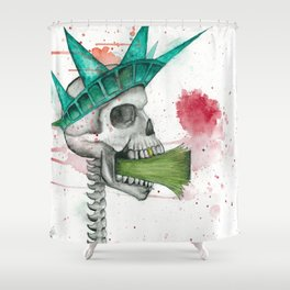 Taxes = Gruesome Shower Curtain