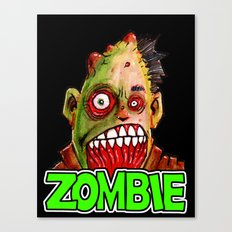 ZOMBIE title with zombie head Canvas Print