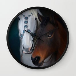 Painted horse portrait Wall Clock