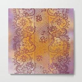 soft lace runner romantic Metal Print