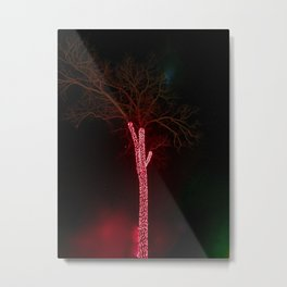 Lightning tree lights Metal Print