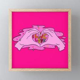 I Love Love Framed Mini Art Print