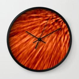 Burnt Orange Pixel Wind Wall Clock