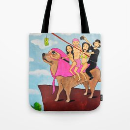 Riding Durte: Living On The Edge Tote Bag