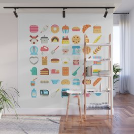 CUTE BAKERY PATTERN (CUTE CHEF BAKER) Wall Mural