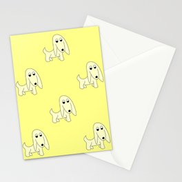 YELLOW PRETTY POOCH Stationery Cards