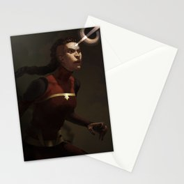 combustion woman Stationery Cards